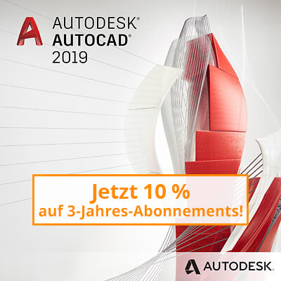AutoCAD 2019 -  Branchenspezifische Toolsets inklusive!